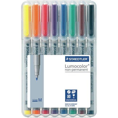 Lumocolor Non-Permanent 1.0Mm Pens 8/Pkg-