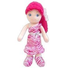 GirlznDollz Leila Glam Girl - Zebra Print Baby Doll, Dark Pink/White