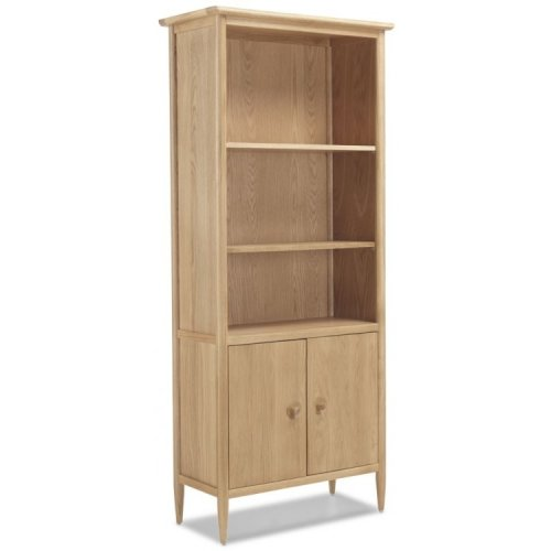 Stockholm Oak Furniture Large Bookcase With Doors