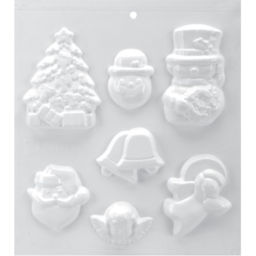 "Soapsations Soap Mold 8""X9""-7 Cavity - Christmas"