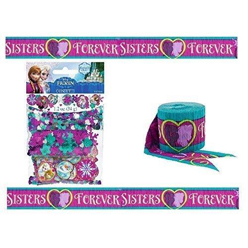 Frozen 3 Packs Mixed Confetti - 34g -