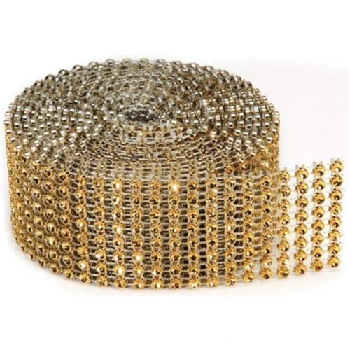 Bling On A Roll 3mmX2yd-8 Rows, Gold