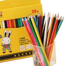 Cute Wood Colored Pencil with 24 Different Colors Assorted Colors (24/Set)