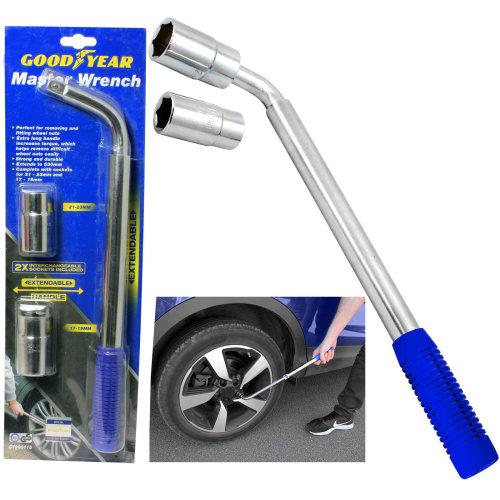 Goodyear Wheel Master Wrench Telescopic Extendable Socket Nut 17-19/21-31mm Tyre