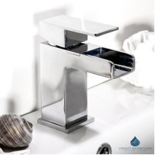 Basin tap waterfall effect Bathroom sink mono mixer