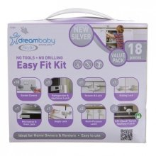 Dreambaby Home Safety Starter Set 18 Piece Silver