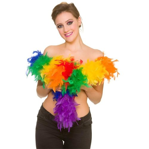 Rainbow Feather Boa - Default Title
