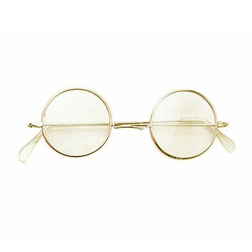 67bca7e6f00 John Lennon Spectacle Glasses With Clear Lens - Fancy Dress Round Granny  Hippy - glasses fancy dress lennon round john granny hippy 60s 70s ozzy on  OnBuy