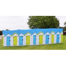OLPRO Beach Huts 4 Pole Compact Windbreak (Steel poles)