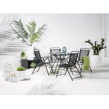 Steel Garden Table - Black LIVO