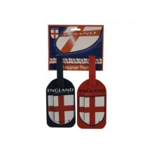 Pack Of 2 St George Luggage Tags -  2 x luggage baggage tags label suitcase name address