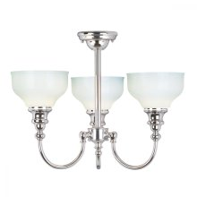 Polished Chrome Bathroom  Chandelier - 3 x 3.5W LED G9 by Happy Homewares