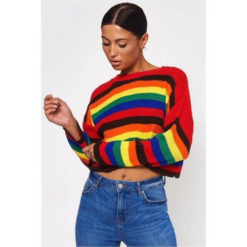 Multicoloured Rainbow Stripe Jumper