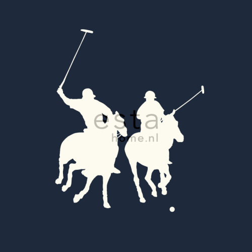 wallpaper polo players navy blue - 115628
