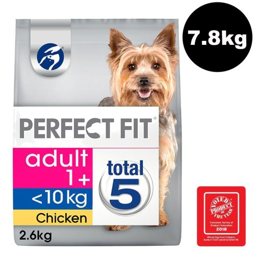 Perfect Fit Dog <10kg Complete Dry Senior 10+ Rich In Chicken 3x2.6kg