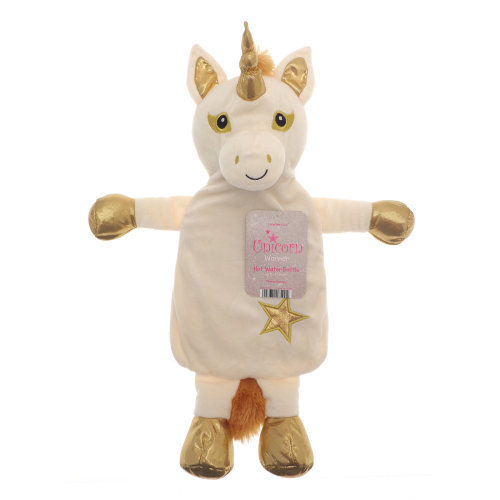 Country Club Unicorn Hot Water Bottle, Gold