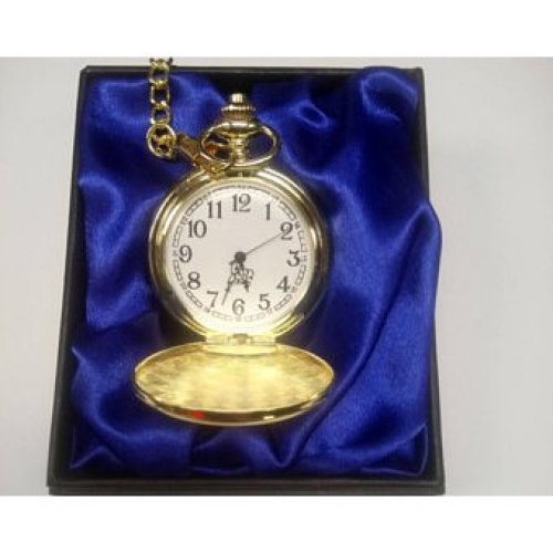 Engraved Gold Plated Pocket Watch