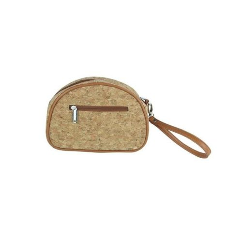 Pina Colada-Clutch Insulated Cosmetics Bags with Removable Wristlet, Cork