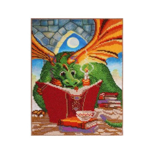 VDV Bead Embroidery Kit - Dragon With Book