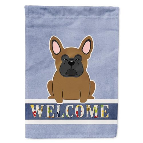 Carolines Treasures BB5594CHF French Bulldog Brown Welcome Flag Canvas House Size