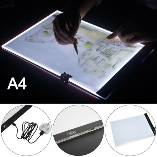A4 LED Stencil Board Light Box Artist Art Tracing Drawing Copy Plate Table Gift