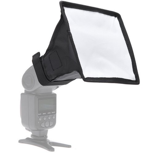 15cm x 17cm Foldable Speedlight Softbox Diffuser For DSLR Camera Flashlight Black