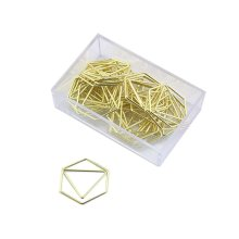 25pk Gold-Tone Hexagon Paper Clips | Hexagon Paper Clips