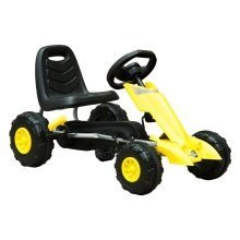 HOMCOM Pedal Go Kart Kids Ride On Bike Sports w/ Rubber Wheel - Yellow