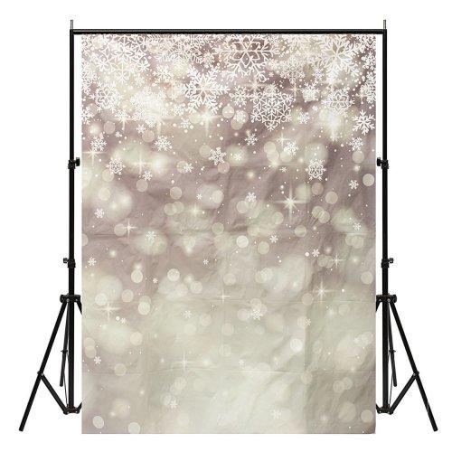 5x7ft Vinyl Christmas Snow Photography Backdrop Background Studio Photo Props