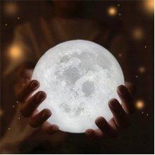 15cm 3D Moon Lamp 3 Colors Changing