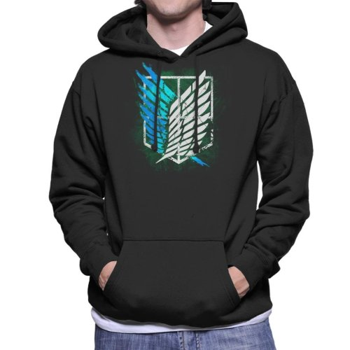 Attack On Titan Suvery Corps Cracked Wall Men's Hooded Sweatshirt