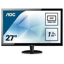 AOC 27 inch 1 ms Response Time LED Monitor, Display Port, HDMI, DVI, VGA, Vesa Q2778VQE