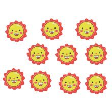 Set Of 10 Funny Magnetic Whiteboard Flowers Magnet Red
