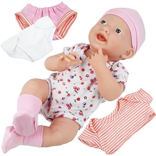 Click N Play Newborn Baby Doll Clothes and Diaper Changing Set.