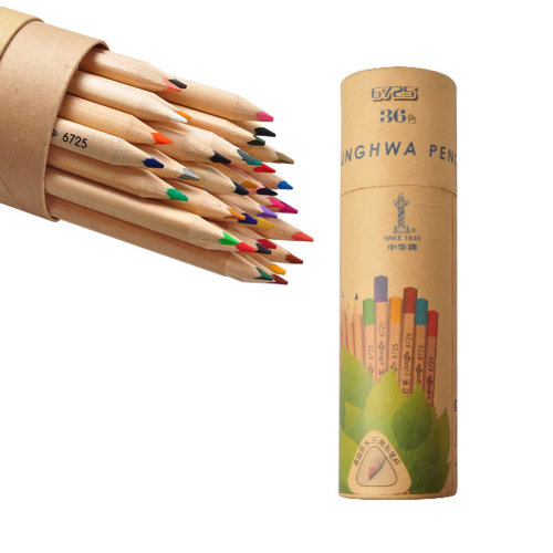 Brightly Oily Wood Colored Pencil, Assorted Colors, 36 Count