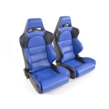 Sportseat Set Edition 1 artificial leather blue/black
