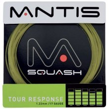 Mantis Tour Response String - Unspecified - Black 17lg Set Squash & Badminton - Mantis Black Tour Response 17lg String Set Squash & Badminton Racket