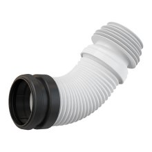 Universal Range Flexi Plastic Flexible WC Toilet Elbow Waste Connector 90/110mm