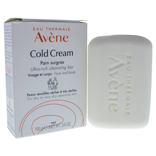 Avene Cold Cream Ultra Rich Cleansing Bar - 3.5 oz Bar Soap