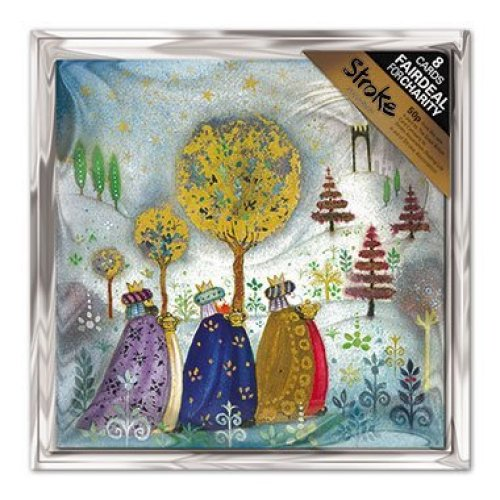 Charity Christmas Cards (ALM7687) In Aid Of Stroke Association - Three Kings - Pack of 8 Cards
