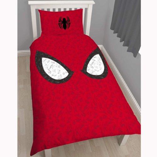 Character World Single Disney Spiderman Ultimate Reflex Panel Duvet Set, Multi-Colour