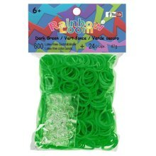 Official Rainbow Loom 600 Dark Green Refill Bands