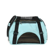 Foldable Soft Pet Carrier Tote Bag for Dogs and Cats (46*24.5*33cm, BLUE)