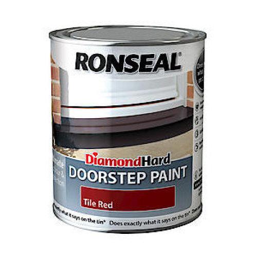 Ronseal Diamond Hard Doorstep Paint 250ml - Tile Red