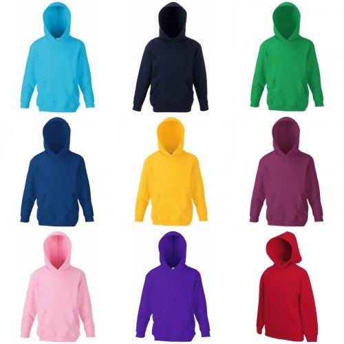 Fruit Of The Loom Childrens Unisex Hooded Sweatshirt / Hoodie