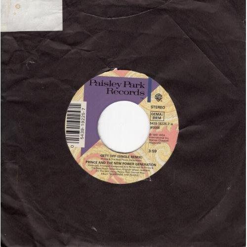 "Gett Off 7"" (UK 1991) , Prince"