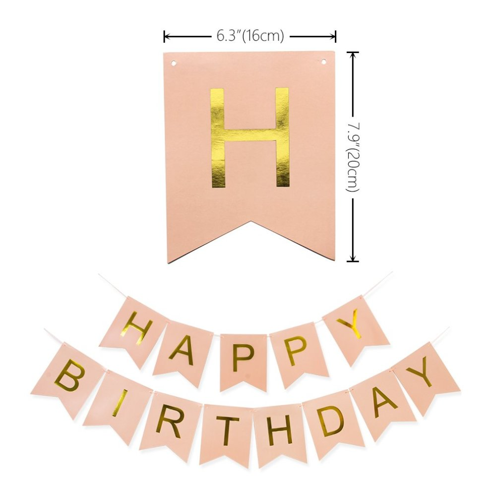 KUNGYO 20Th Birthday Party Decorations Kit Pink Happy Brithday BannerNumber 20 Golden Mylar