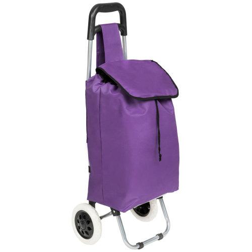 Shopping trolley folding purple