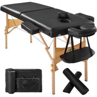 2-zone massage table 7.5 cm padding + rolls + bag black