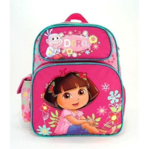 Small Backpack - Dora the Explorer - w/Boots Flower School Bag 635671